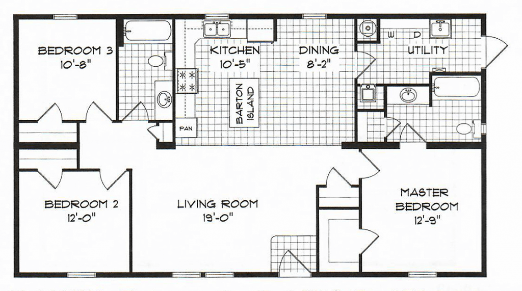 GS Courtyard Homes - Floor Plan - The Barton - Standard