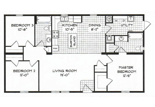 GS Courtyard Homes - Floor Plan - The Barton thumb