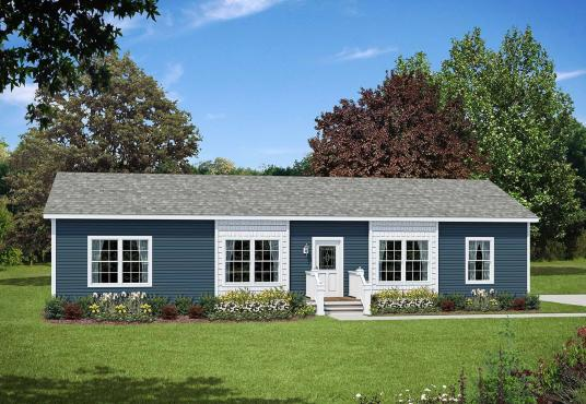 GS Courtyard Homes - Floor Plan - The Louisville - exterior