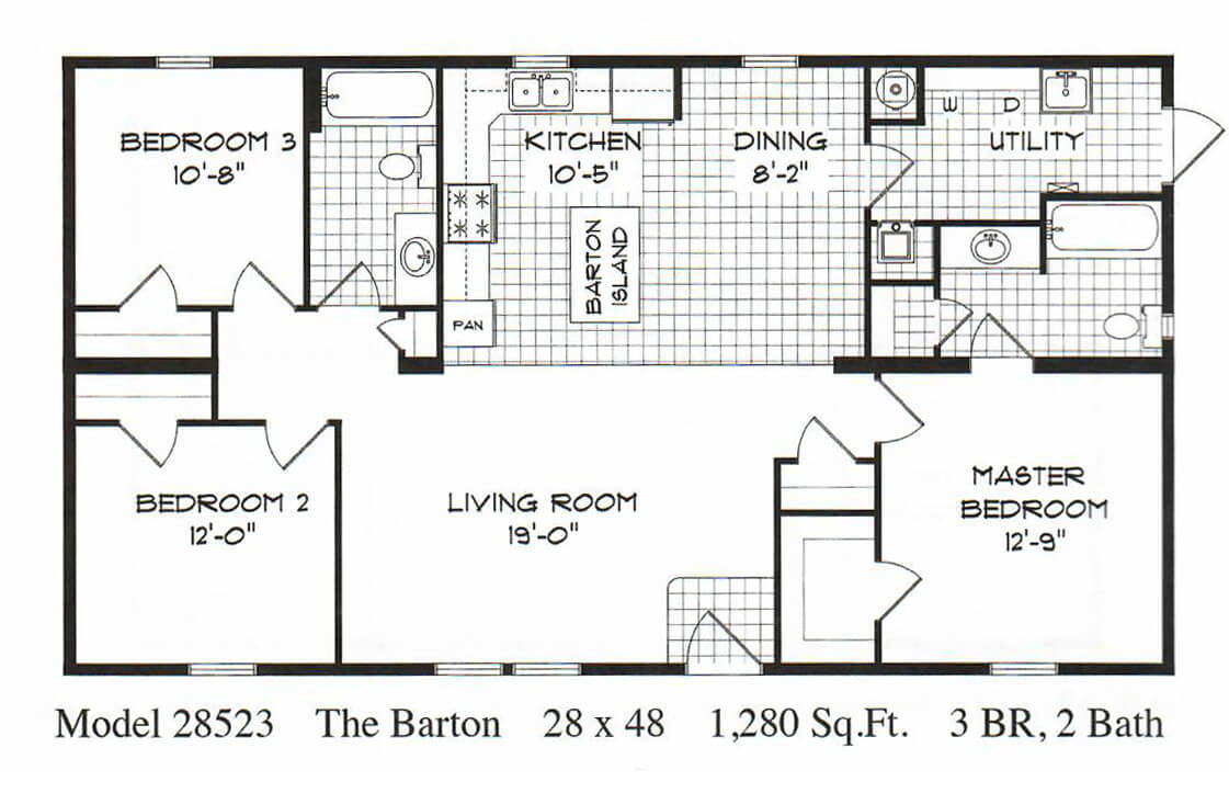 GS Courtyard Homes - Completed Projects - Barton Floor Plan 1