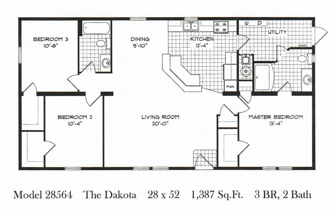 GS Courtyard Homes - Completed Projects - Barton Floor Plan 3