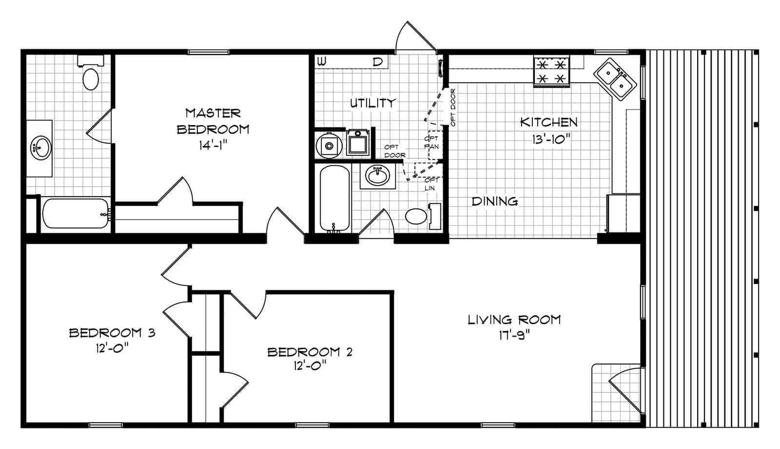 GS Courtyard Homes - Completed Projects - The Michigan MHE Floor Plan