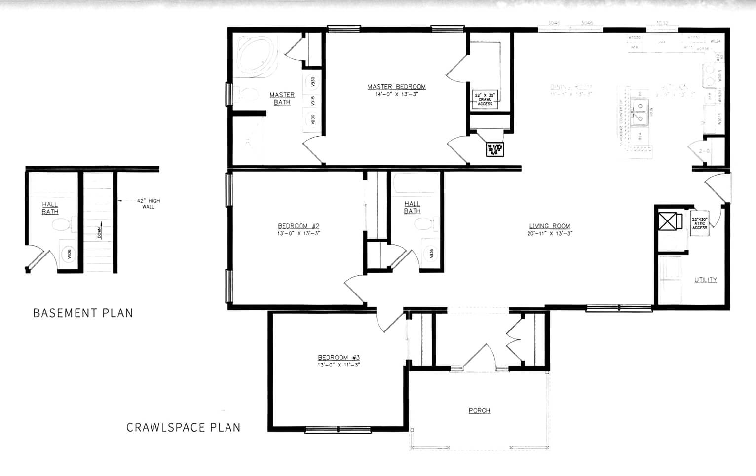 GS Courtyard Homes - Completed Projects - The Westwood Floor Plan